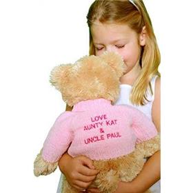 This is an image of a personalised Teddy bear back with mills from My Teddy