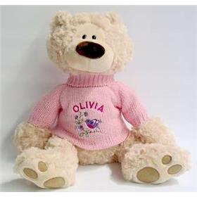 This is an image of a personalised teddy bear from My Teddy charlie cream