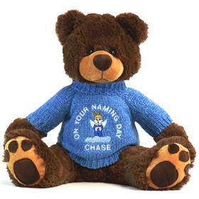 This is an image of a Naming day gift personalised teddy bear from my teddy