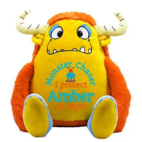 This is an image of a personalised teddy monster Bongo from My Teddy