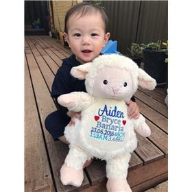 This is an image of baby gift ideas of lamb critter from My Teddy