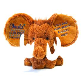 This is a customised teddy bear mammoth from My Teddy