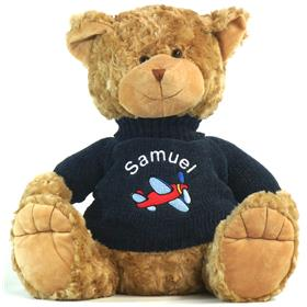 This is an image of a customised Teddy bear for a boy from my teddy