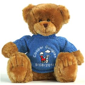 This is an image of Frankie brown personalised teddy bear from My Teddy
