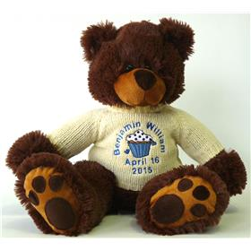 This is an image of a Personalised Mojo teddy from my Teddy