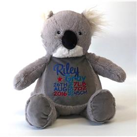 This is an image of our personalised koala baby gift from My Teddy