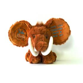 This is an image of a personalised teddy mammoth birth announcements from My teddy