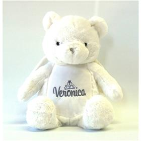 This is an image of a personalised Angel teddy bear from My Teddy