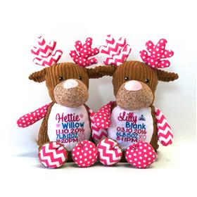 this is an image of two cupcake pink cubbies newborn baby gifts from My Teddy