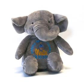 This is an image of Personalised Stuffed Elephant from my teddy