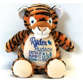 this is an image of a unique baby gift tiger cubbie from my teddy