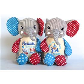 personalised teddy patchwork elephant