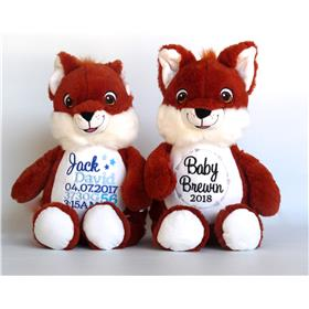 Personalised Teddy Foxes