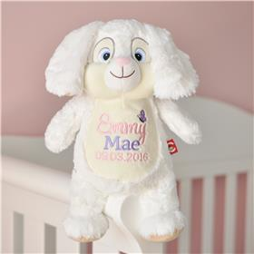 This is an image of a personalised baby gift bunny from my teddy