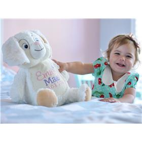 This is an image of a personalised baby gift idea bunny from My Teddy