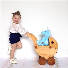 This is an image of a blue unicorn cubbie blue personalised from My Teddy