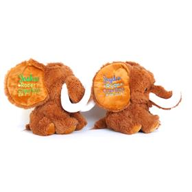 this is an image of a mammoth cubbie personalised from My Teddy