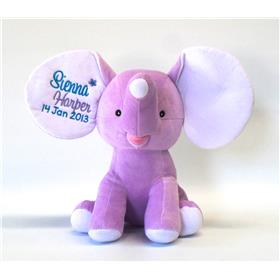 This is an image of personalised purple dumble toy from My Teddy