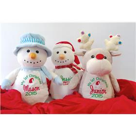 Snowmen and reindeers for Christmas