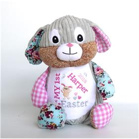 First Easter gift idea.  Pink patchwork bunny