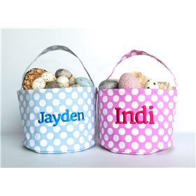 Personalised Easter baskets, perfect for those Easter Egg hunts