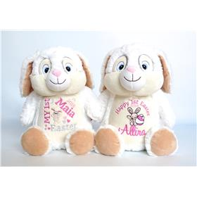 Cute Easter Bunnies in white for Easter Gifts for girls