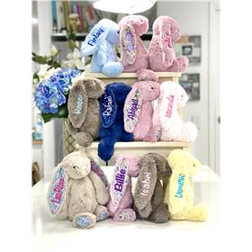 A jellycat bunny selection