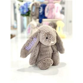 Lavender jellycat bunny personalised with lavender embroidery