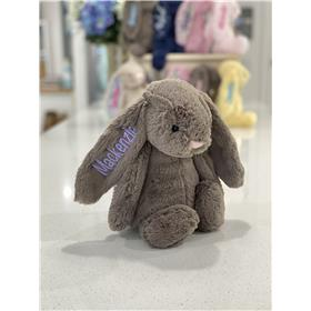 Trufe Jellycats bunny with lavender personalised embroidery