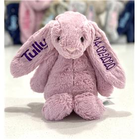 Personalised Jellycat Bunny Tulip with Purple embroidery
