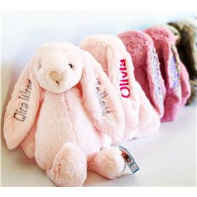 Jellycat bunnies, personalised
