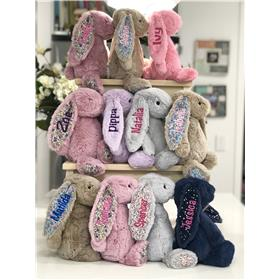 Jellycat bunny stack in a range of colours and styles