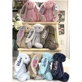 Jellycat Bunny collection, I a variety of colours