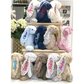 Jellycat bunnies galore, all personalised with quality embroidery