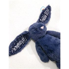 Stardust Jellycat bunny with white embroidery