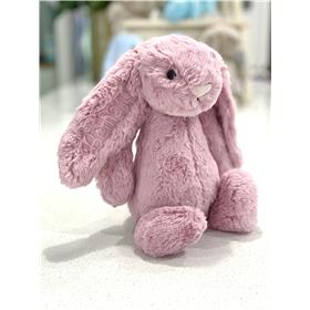 Tulip pink Jellycat bunny with pastel pink embroidery