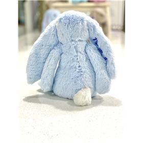 Blue Jellycat bunny rear view