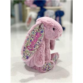 Tulip Blossom Jellycat bunny with Candy pink embroidery