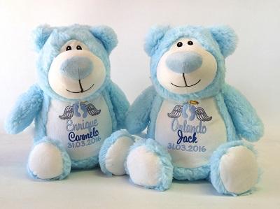 Name Teddy Bear date Personalised baby bib weight