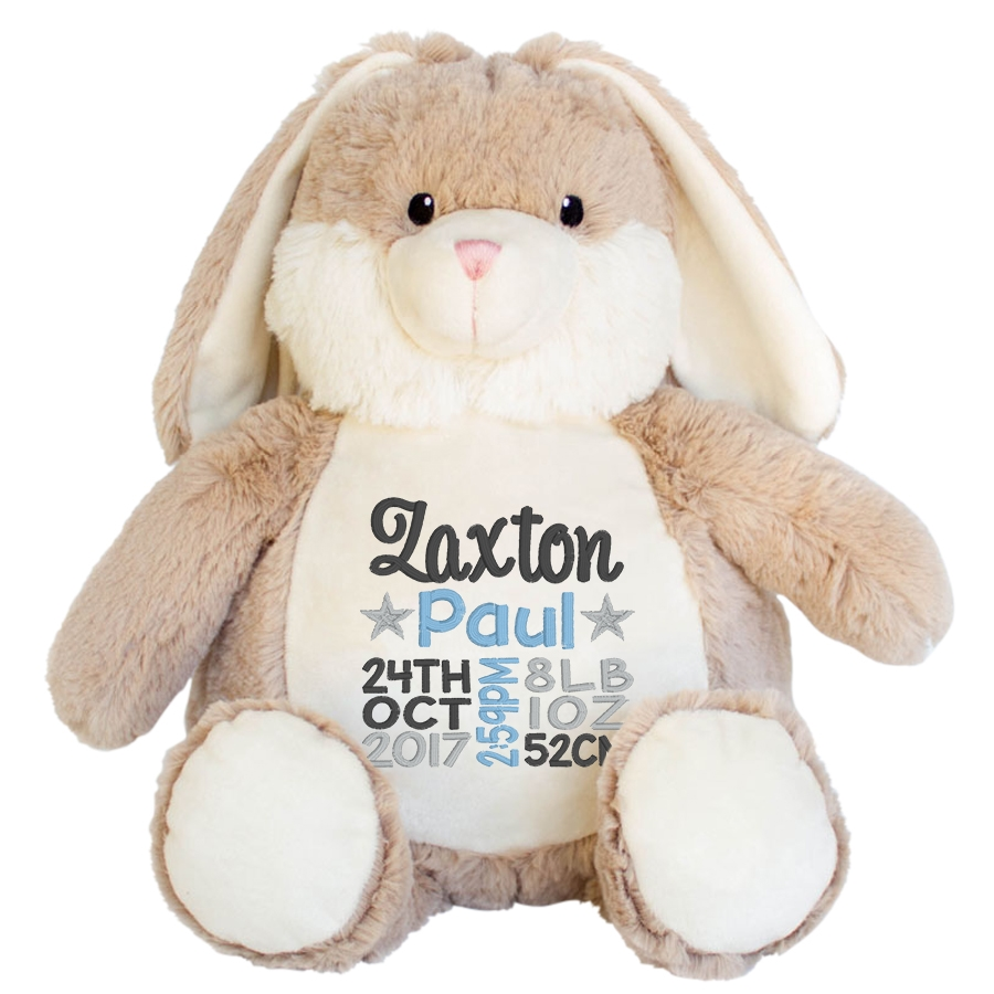 Brown Easter Bunny Birth Announcement