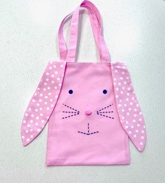 Personalised+Bunny+Easter+Baster+Pink+with+white+polkadots