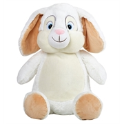 White+personalised++bunny+teddy+bear+toy+.