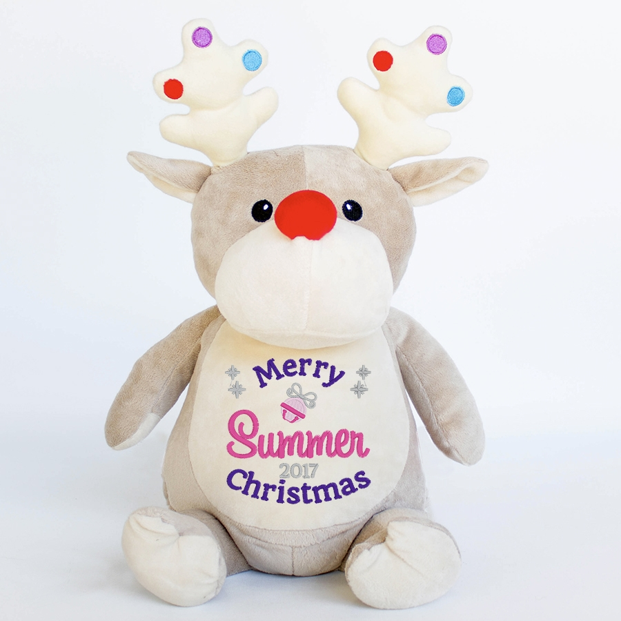 Reindeer+Christmas+Teddy+Bear+-+Dancer+Personalised