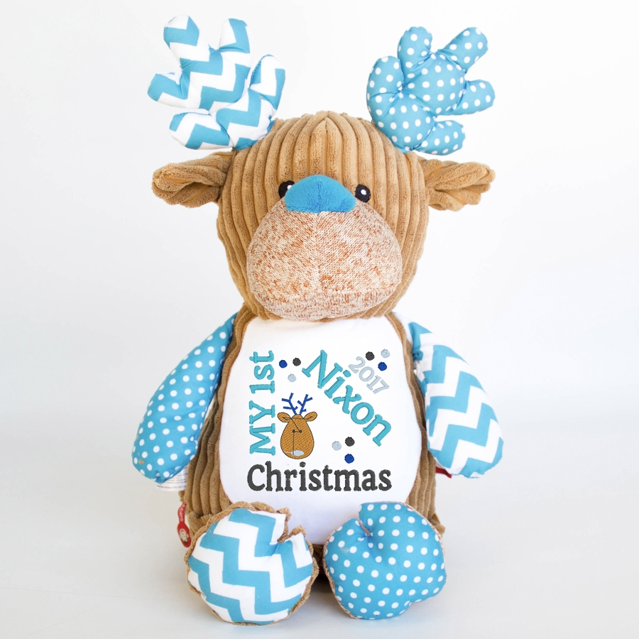 My+First+Christmas+Teddy+Bear+Cupcake+Blue