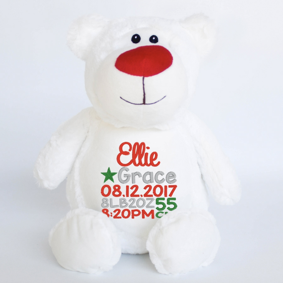 Snowy+Christmas+Bear+Personalised