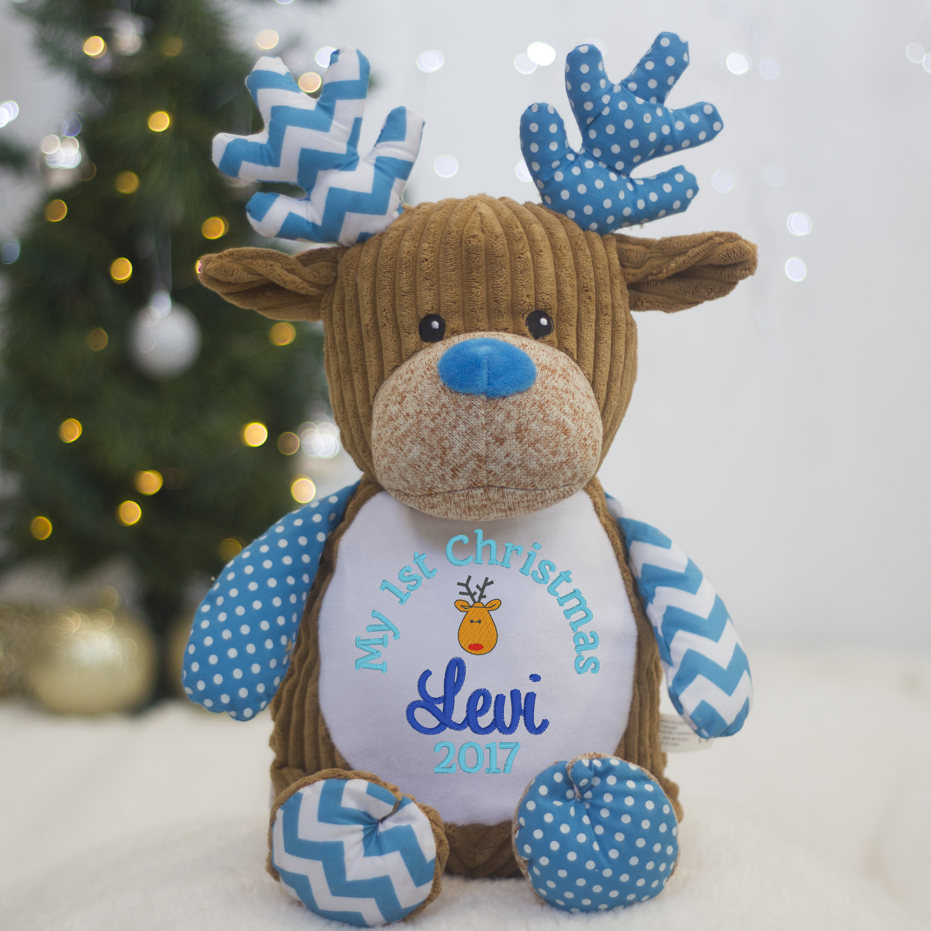 Cupcake+Reindeer+Personalised+First+Christmas