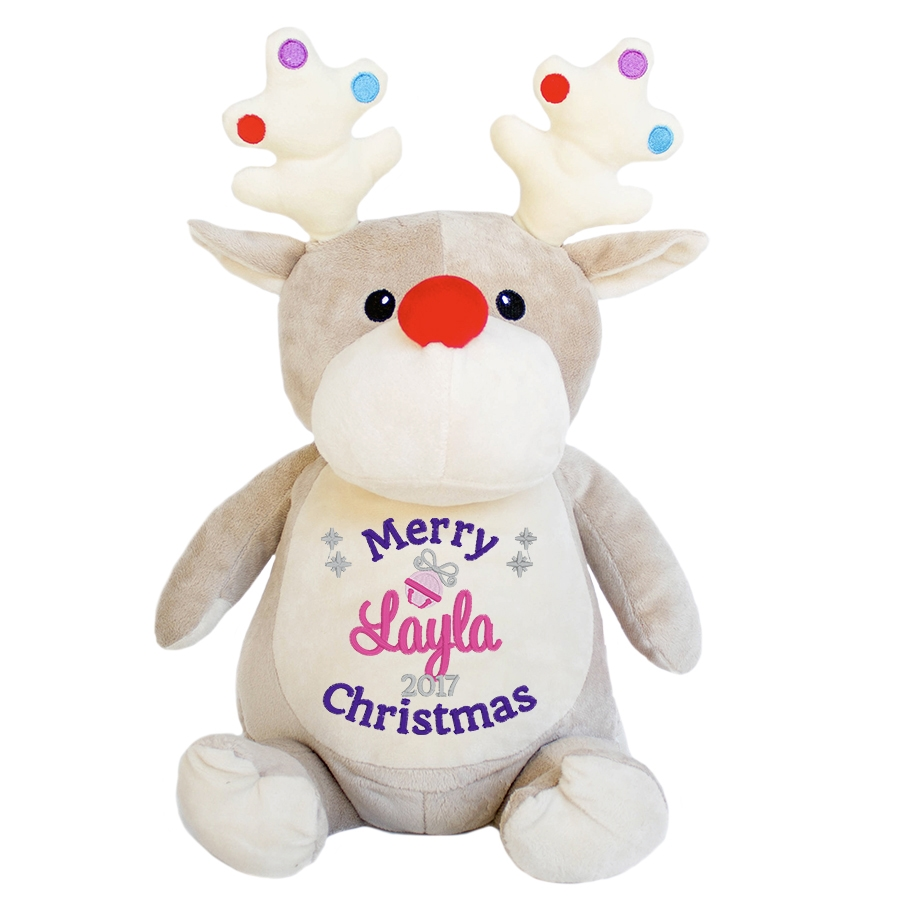 This+is+an+image+of+a+Personalised+Reindeer+Christmas+Gift+from+My+Teddy