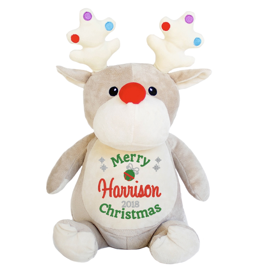 This+is+an+image+of+a+Dancer+Reindeer+Personalised+Christmas+Gift+from+My+Teddy