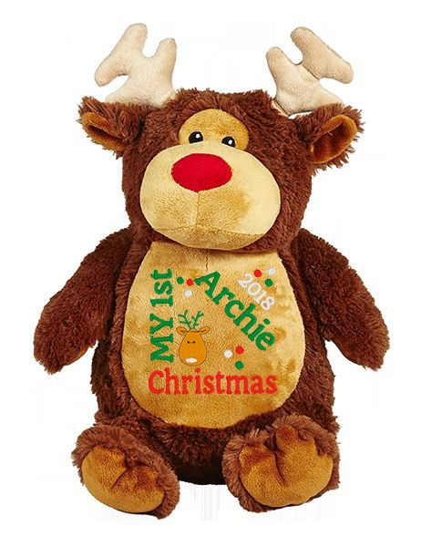 This+is+an+image+of+a+Reindeer+Teddy+Merry+Christmas+Gift+from+My+Teddy