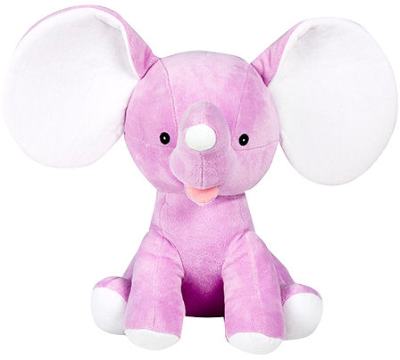 This+is+an+image+of+a+personalised+dumble+elephant+purple+from+My+Teddy